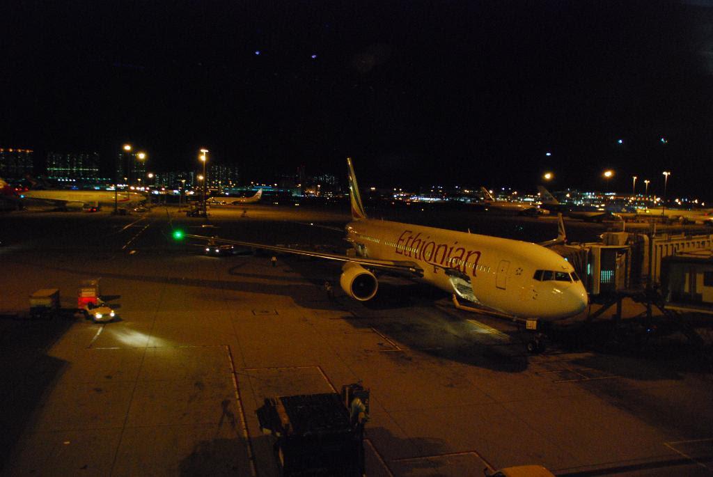 Ethiopian Airlines 767 at Chek Lap Kok Airport