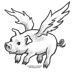 Dulemba Coloring Page Tuesday Flying Pig
