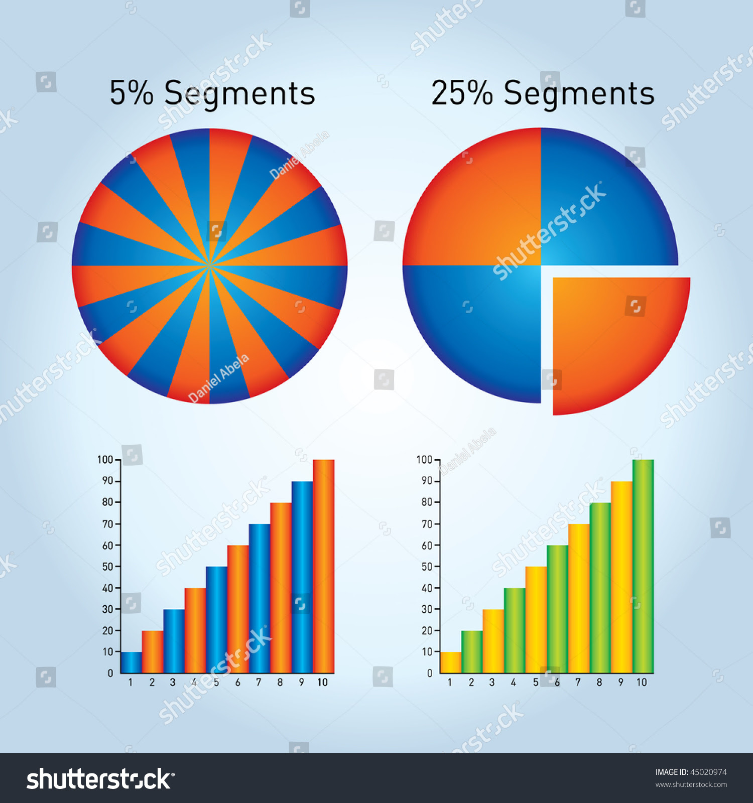 Easily Editable Graphs And Charts Stock Vector Illustration ...