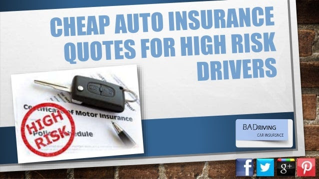 How Can I Get Car Insurance As A High Risk Driver At Low Cost