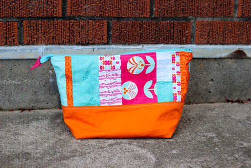 Color Me Retro Open Wide Zipper Pouch by Jeni Baker