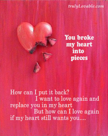 You Broke My Heart Quotespicturescom