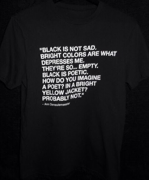 T Shirt Sad Depression Basic Black Black Shirt Colorful Shirt