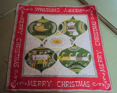 Vintage Unused Pat Prichard Christmas Hanky, Shiny Brights - Izzydaizy