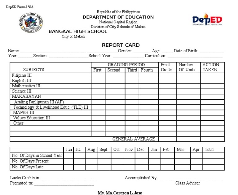 63 FREE DOWNLOAD DEPED CARD SAMPLE 2016 CDR PSD 2019