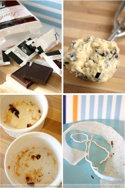 Dark Chocolate, Muffin Batter, Empty Remekins, Leftovers