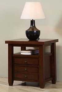 Amazon.com: Navigator Walnut Cherry End Table. This ...