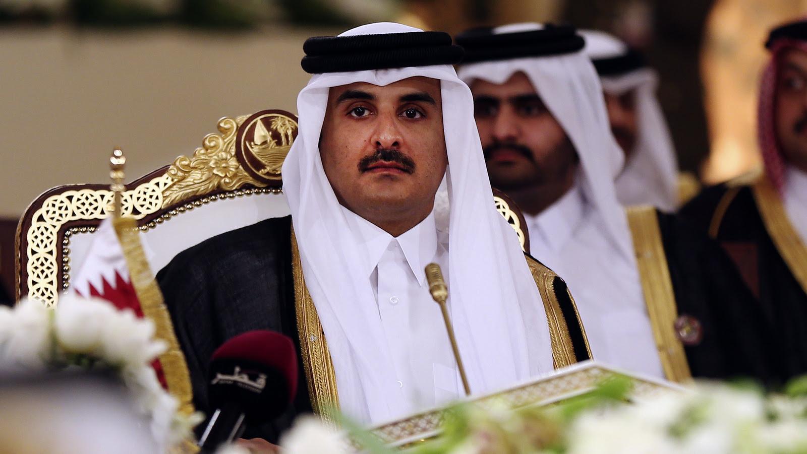 Qatar's Emir Sheikh Tamim bin Hamad Al-Thani attends a Gulf Cooperation Council summit in Doha, Qatar. (AP/Osama Faisal)