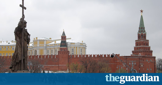 From one Vladimir to another: Putin unveils huge statue in Moscow | World news | The Guardian