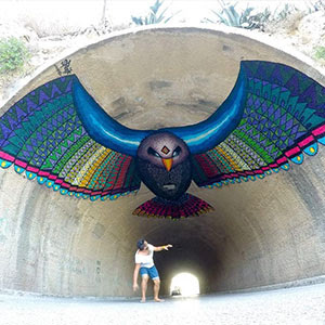 Flying Eagle Mural In Spain By Spaik
