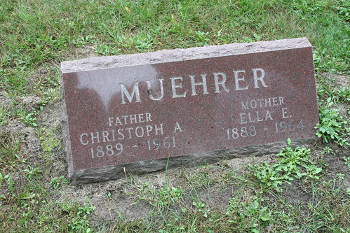 Christoph and Ella Muehrer tombstone