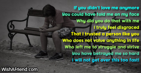 If You Did Not Love Me Betrayal Poem