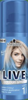 Schwarzkopf, Live Color, makijaż do włosów w sprayu, Blue Twist, 100 ml, nr kat. 272534