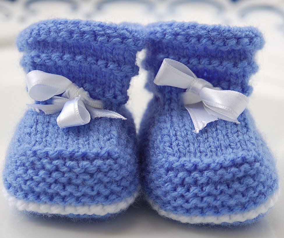 Baby Booties Knit Patterns  A Knitting Blog