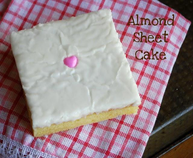 Almond sheet cake 1