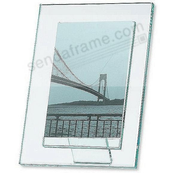 Moda Solid Glass 5x7 Frame With Pedestal Back Floats Your Vertical