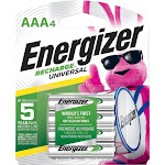 Energizer - Recharge Universal Rechargeable AAA Batteries (4-Pack)