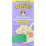 Annies Homegrown Macaroni and Cheese - Rice Shells and Creamy White Cheddar - Gluten Free - 6 Ounce -PACK 12