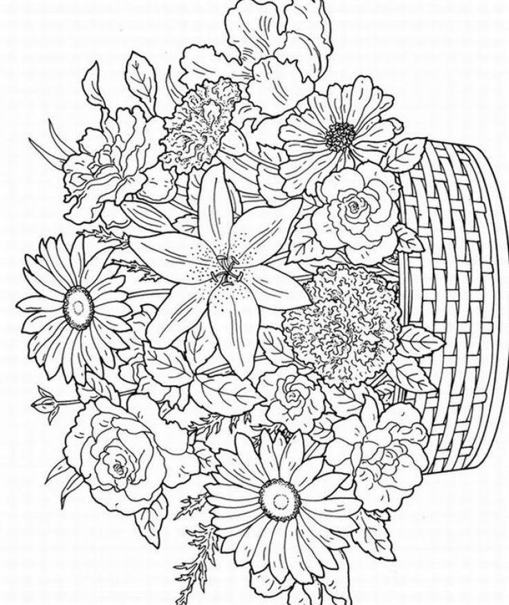 Printable Coloring Pages For Kids Flowers Coloring And Drawing