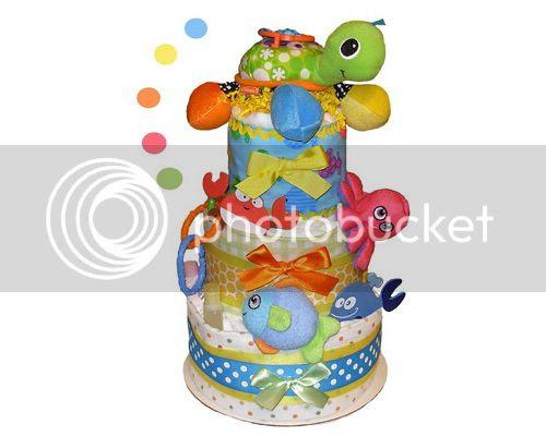 Sea Life Diaper Cake
