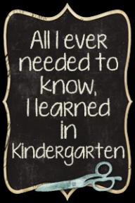 playground daze blog button quote about kindergarten