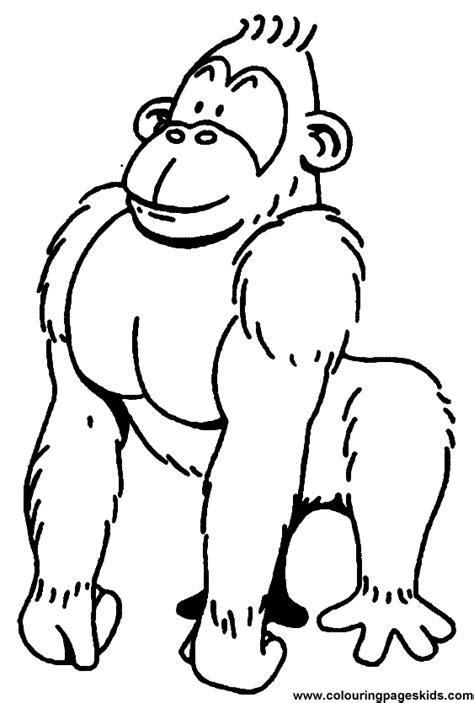 gorilla coloring pages clipart panda  clipart images
