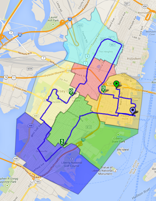 Jersey City Ward Bike Tour 2014