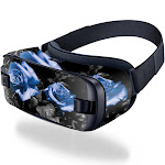 MightySkins SAGEVR2-Blue Roses Skin for Samsung Gear VR 2016 - Blue Roses