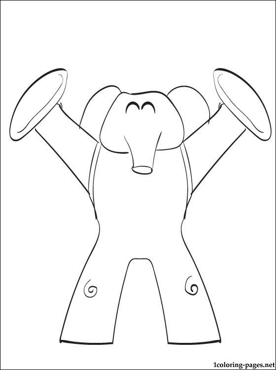 Elly Pocoyo Coloring Page Coloring Pages