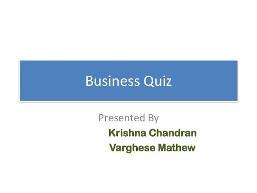 Business quiz 2014