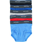 Fruit of the Loom Toddler Boy's 5-Pack Solid Brief Underwear -