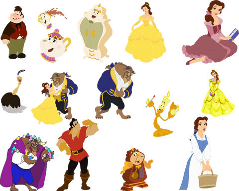 3d beauty and the beast characters characters in disneys beauty beauty ...