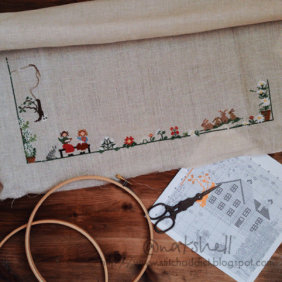 "A Stitch in Time is Worth Nine: Продолжение деревеньки от Sara Guermani ""Stitching & Quilting Party"""