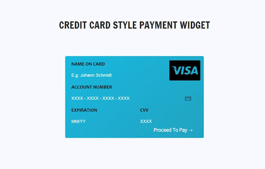 Credit Card Style Payment Widget Responsive Template - w3layouts.com