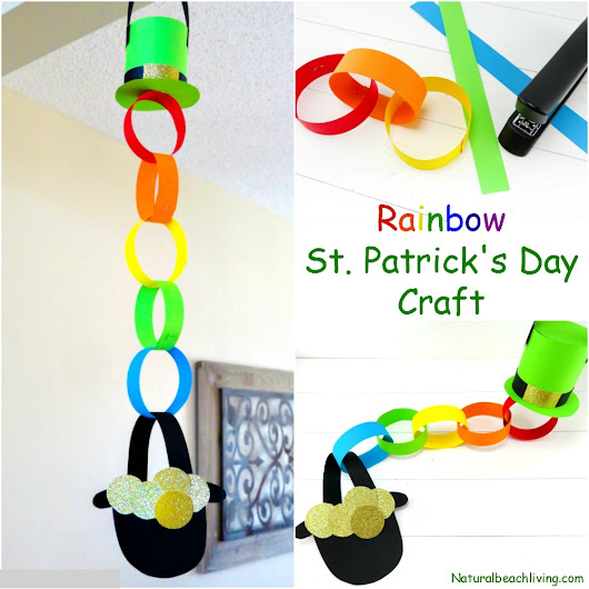 Rainbow Pot of Gold Craft Idea for St Patrick's Day - Natural Beach Living