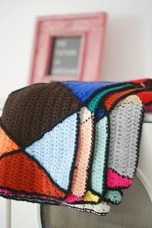 wood & wool harlequin blanket