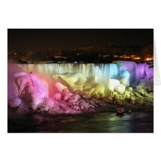 Night Lights: American Falls card