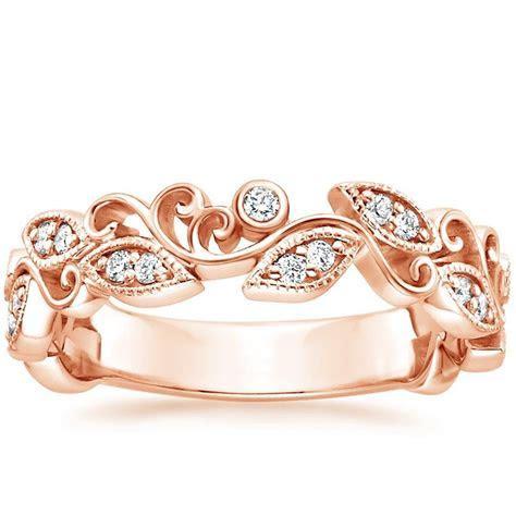 Ivy Scroll Diamond Ring in 14K Rose Gold