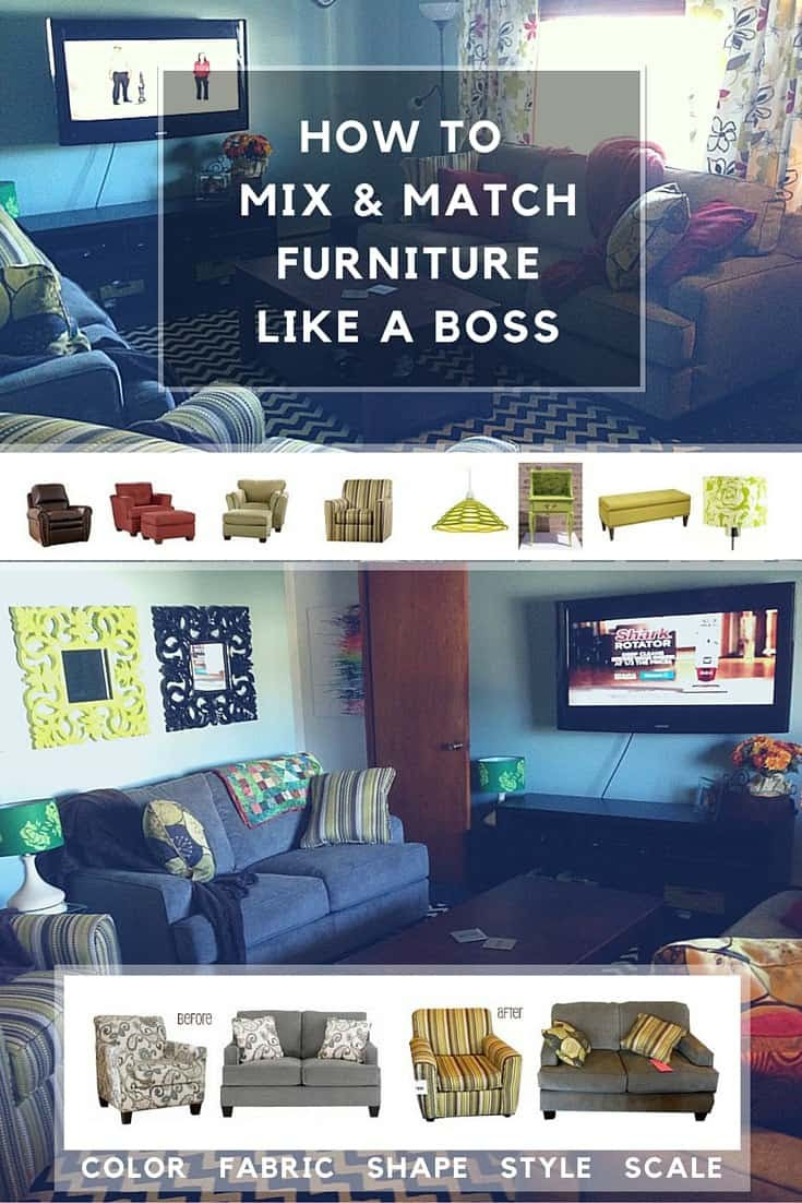 mix and match furniture like a boss pinterest image