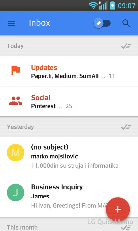 Inbox by Gmail Review - Is this a Gmail Killer? | Yanado Blog