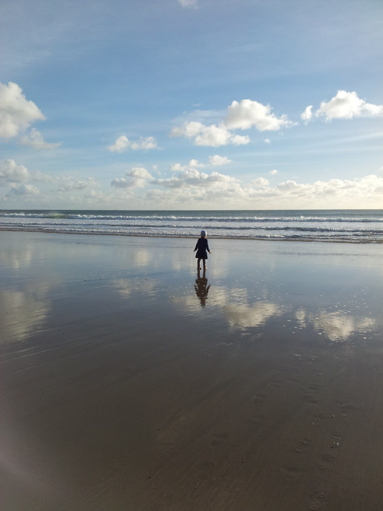 Reflection on beach Silent Sunday Social Pix