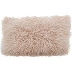 Saro Lifestyle 706.RS1220B 12 x 20 in. Rectangle Mongolian Faux Fur Throw Pillow - Rose