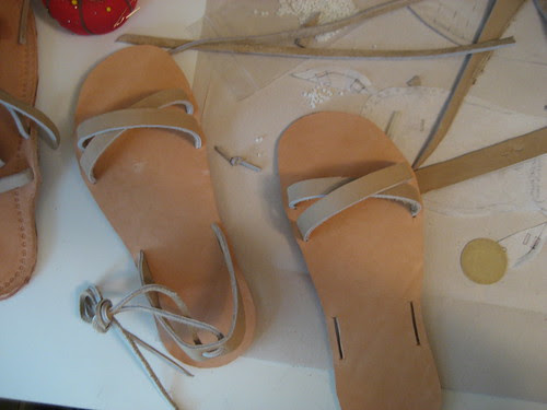 sandal making::