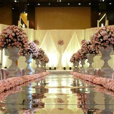10m/roll Luxury Wedding Centerpieces Gold Silver Double