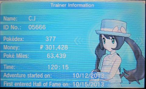 CJ Trainer Card