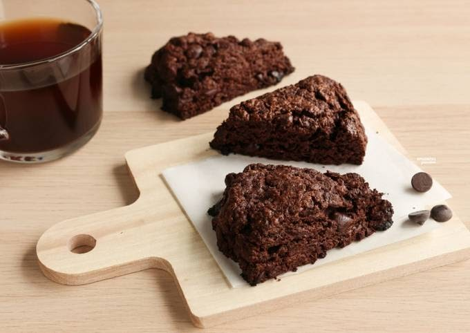 Easiest Way to Cook Appetizing Chocolate Scones [Eggless Recipe]