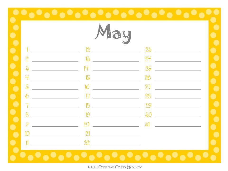 birthday calendars 8