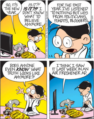 Edison Lee comic: does anyone even know what truth looks like any more?