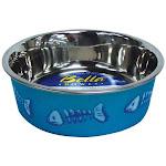 Loving Pets 7750 Skelleton Design Bella Bowl, Blue