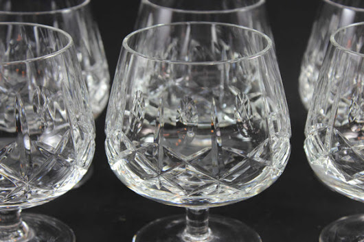Cross and Olive Crystal, Brandy Snifters (7)